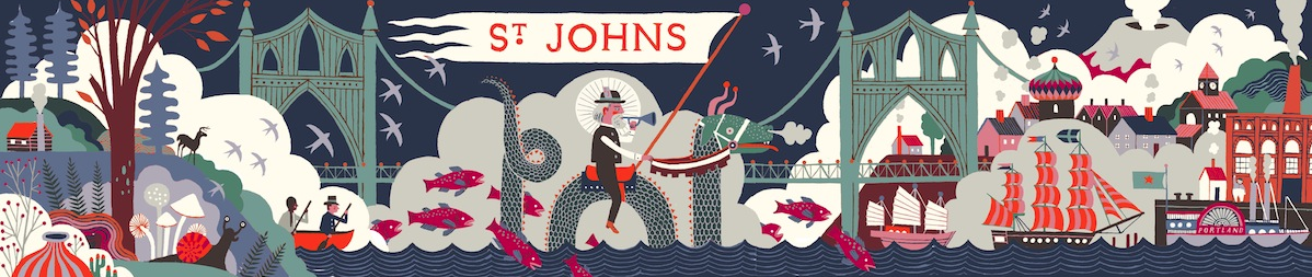 St. Johns mural by Carson Ellis