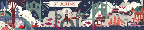 St. Johns mural by Carson Ellis